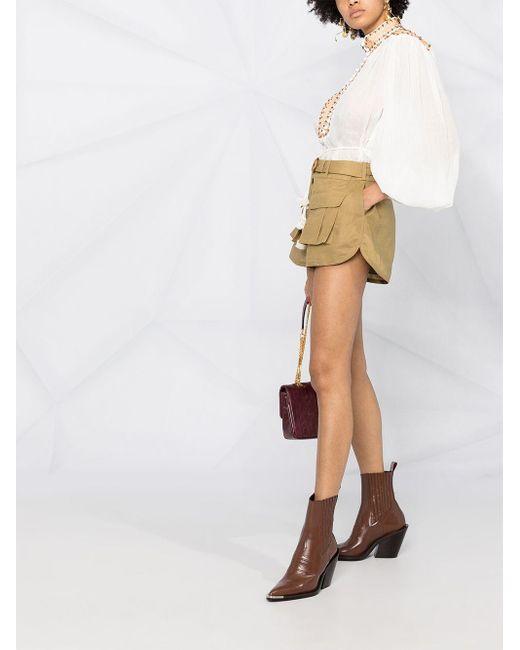 Shorts tipo cargo de talle alto Zimmermann de color Green