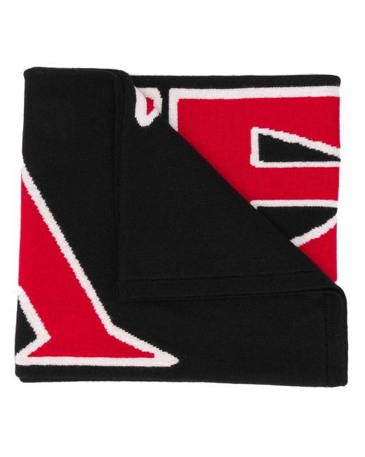 Трикотажный Шарф С Логотипом Fendi для него, цвет: Black