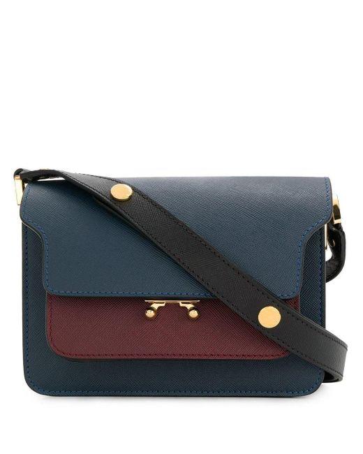 Petit sac porté épaule Trunk Marni en coloris Blue
