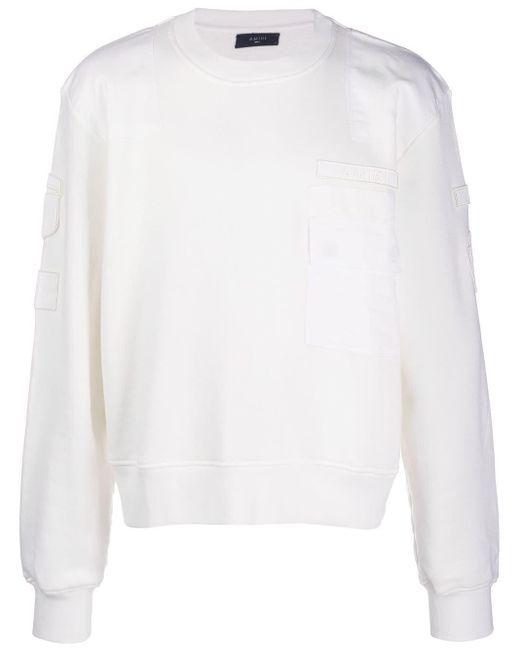 メンズ Amiri パッチポケット セーター White