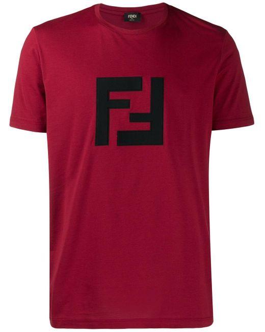 メンズ Fendi Ff ロゴ Tシャツ Red
