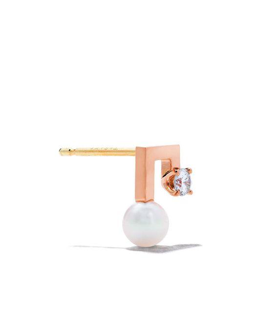 Tasaki ダイヤモンド&パール ピアス 18kローズゴールド Multicolor