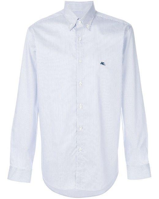 Etro   Blue Striped Shirt for Men   Lyst