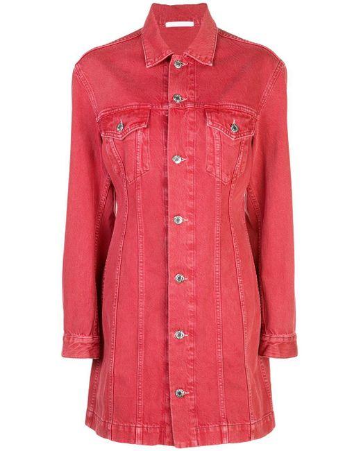 Helmut Lang ボタン シャツドレス Red
