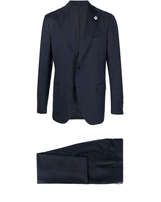 Lardini Einreihiger Anzug in Blue für Herren