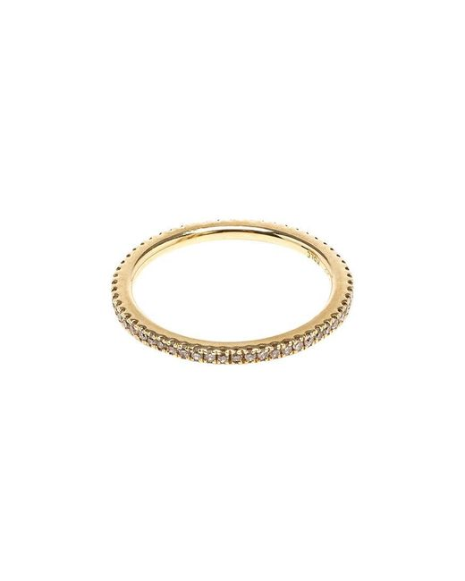 Rosa De La Cruz | Pink 18k Yellow Gold & Diamond Midi Ring | Lyst