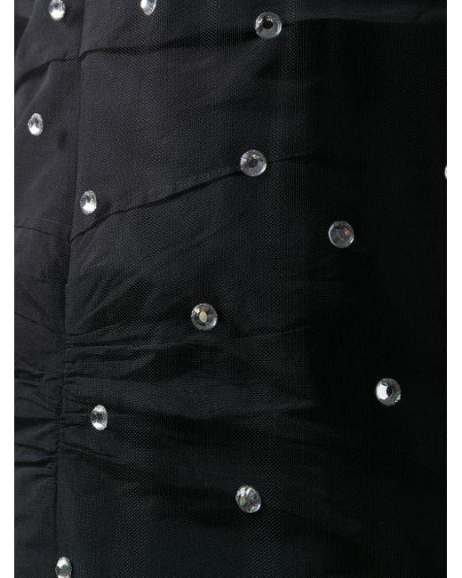 Платье С Кристаллами И Вставкой Из Тюля N°21, цвет: Black