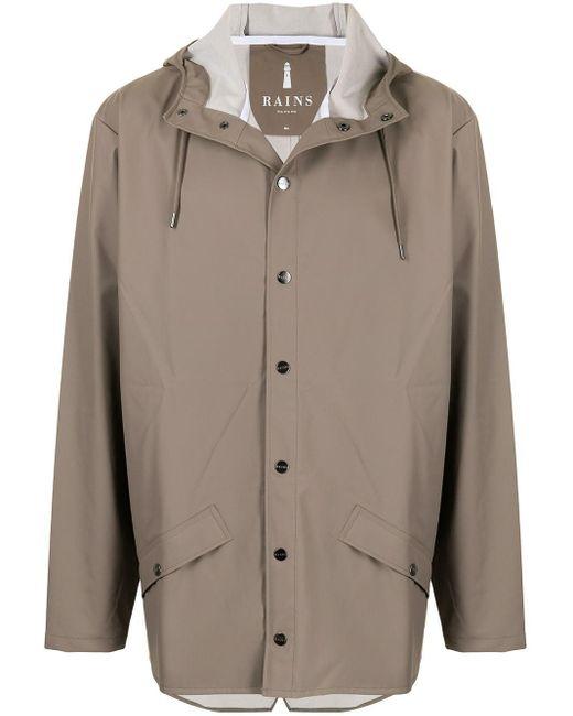 Легкая Куртка С Капюшоном Rains для него, цвет: Brown
