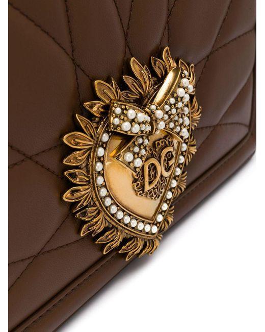 Dolce & Gabbana Devotion ショルダーバッグ M Brown