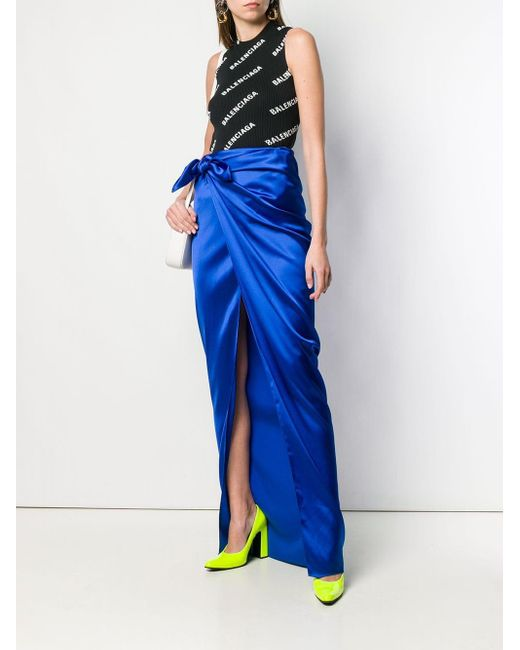 Balenciaga ラップスカート Blue