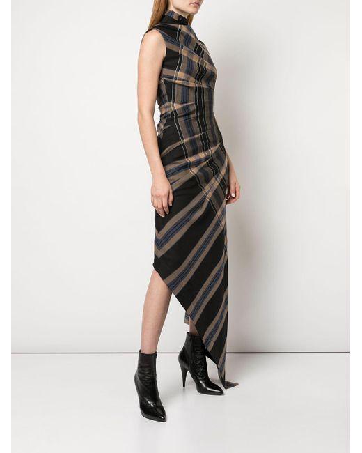 Monse チェック ドレス Black