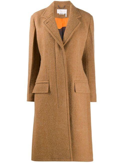 Пальто С Потайной Застежкой Спереди Chloé, цвет: Brown