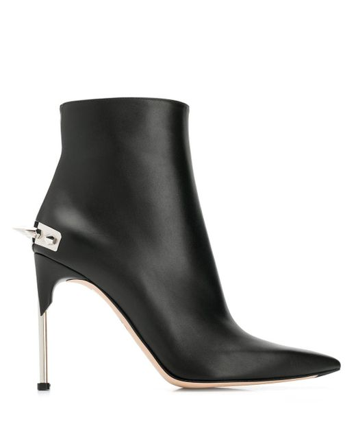 Ботильоны С Заклепками Alexander McQueen, цвет: Black