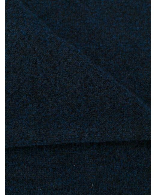 メンズ Faliero Sarti フレイド スカーフ Blue