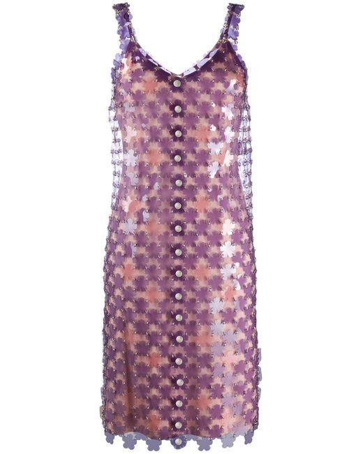 Paco Rabanne デコラティブ ドレス Purple