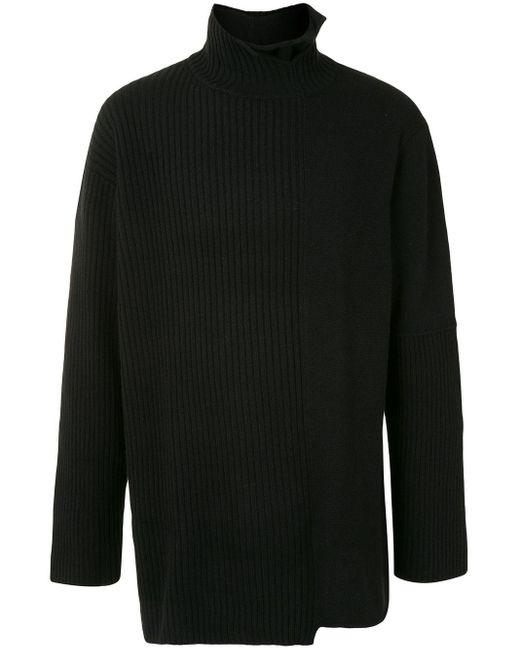 メンズ Yohji Yamamoto ハイネック セーター Black