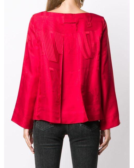 Жаккардовая Блузка Pre-owned Hermès, цвет: Red