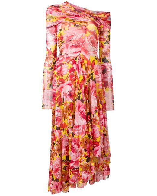 MSGM フローラルプリント ドレス Pink