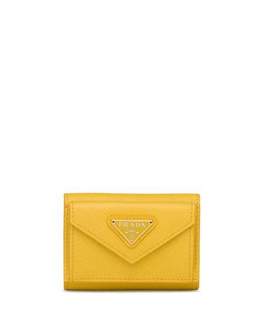 Prada 三つ折り財布 Yellow