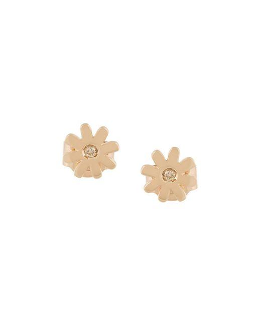 Boucles d'oreilles Mini Daisy Karen Walker en coloris Metallic