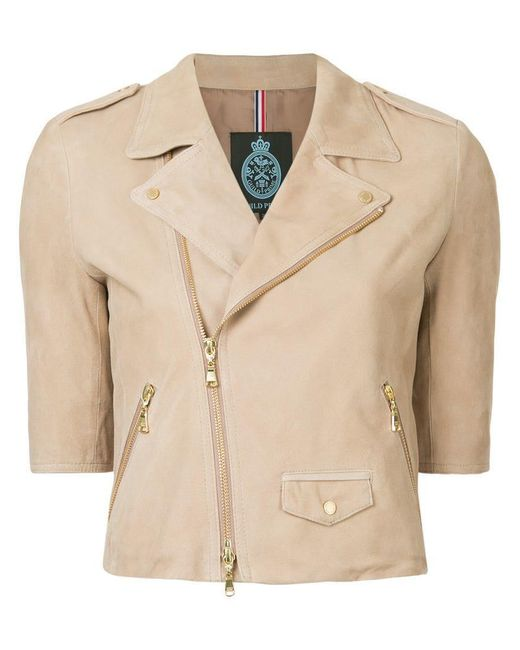 Guild Prime - Natural Short-sleeve Biker Jacket - Lyst