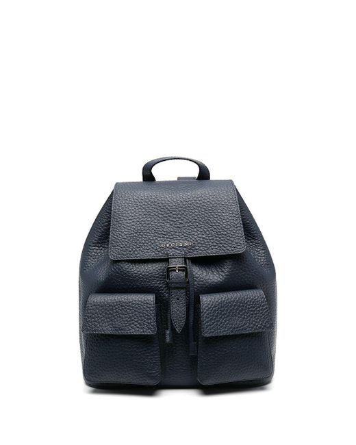 Orciani レザー バックパック Blue