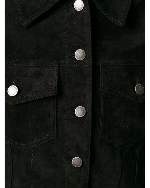 Giuseppe Zanotti スエード クロップドジャケット Black