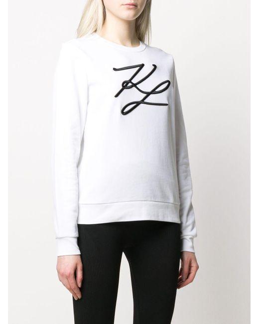 Толстовка С Вышивкой Karl Lagerfeld, цвет: White