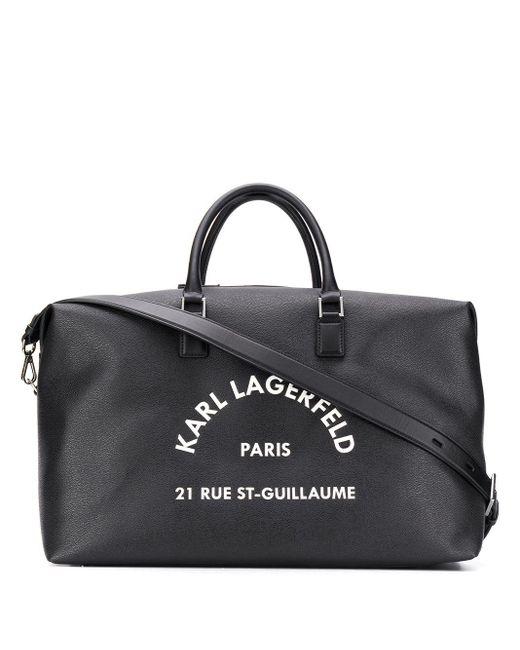 Karl Lagerfeld Black Rue St Guillaume Holdall Bag