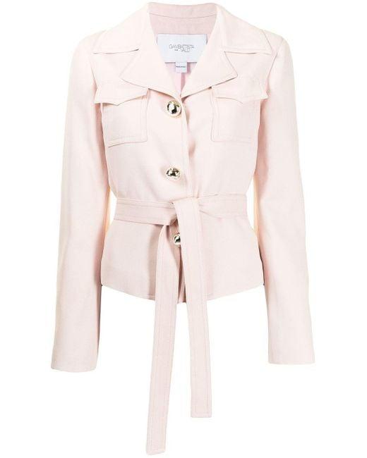 Giambattista Valli Pink Tie-fastening Fitted Jacket