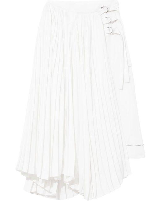 Proenza Schouler バックル プリーツスカート White