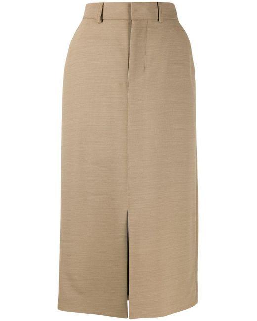 AMI フロントスリット スカート Natural