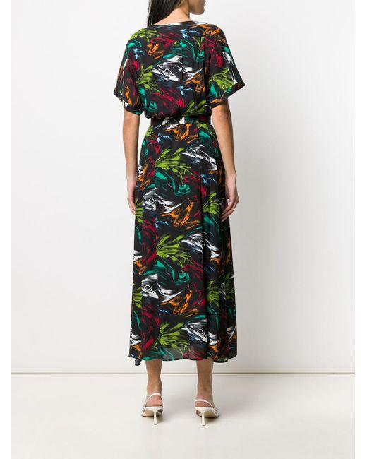 Robe mi-longue à imprimé abstrait Missoni en coloris Black