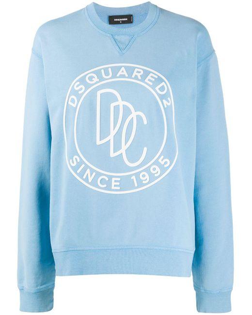 DSquared² ロゴ スウェットシャツ Blue