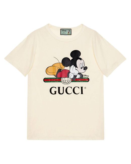Gucci 【公式】 (グッチ)disney (ディズニー) X オーバーサイズ Tシャツオフホワイト コットンホワイト White