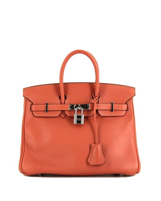 Сумка-тоут Birkin 25 2008-го Года Hermès, цвет: Orange