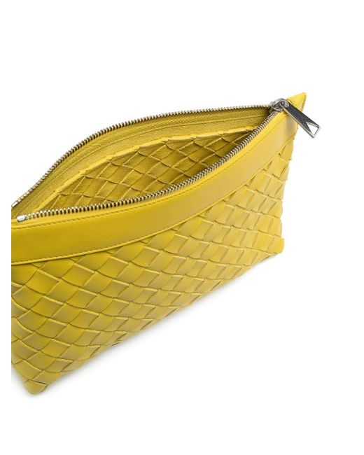 Cintura Intrecciato di Bottega Veneta in Yellow da Uomo