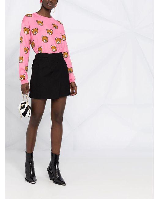 Moschino テディベア セーター Pink