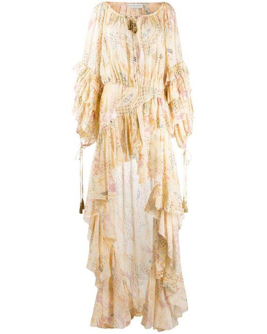 Etro フローラル ドレス Natural