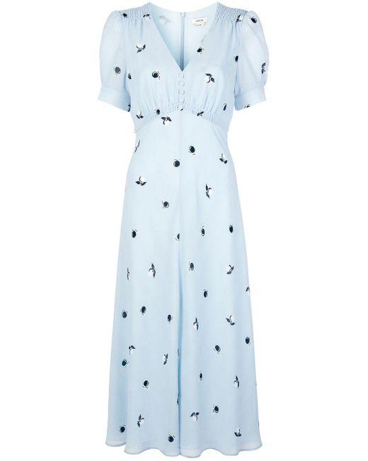 Jason Wu プリント ドレス Blue