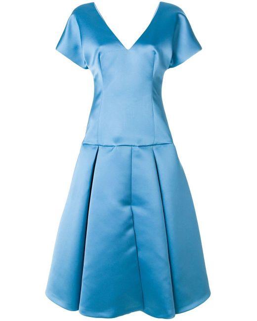 Sara Battaglia Flared dress femme de coloris bleu cKR6w