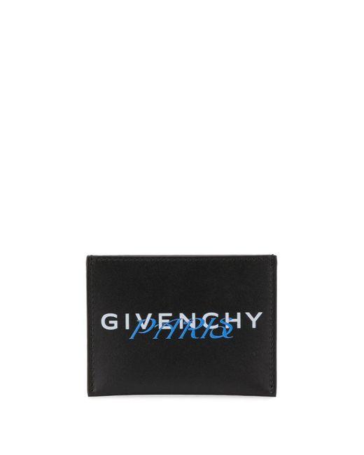 メンズ Givenchy ブラック And ブルー Paris カード ホルダー Black