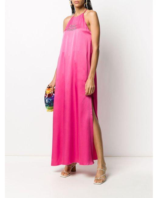 Giada Benincasa Ciao Amore サテンドレス Pink