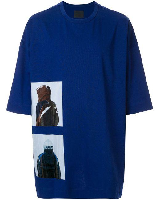 メンズ Juun.J Synthesize グラフィック Tシャツ Blue