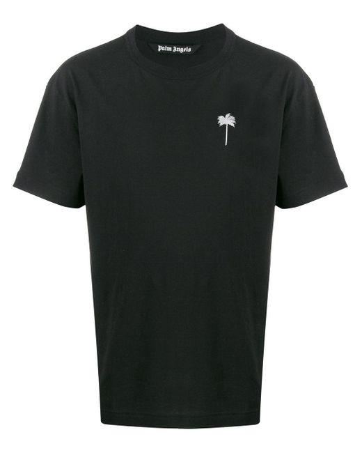 メンズ Palm Angels エンブロイダリー Tシャツ Black