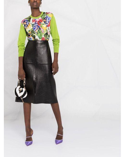 Dolce & Gabbana フローラル パネル セーター Green