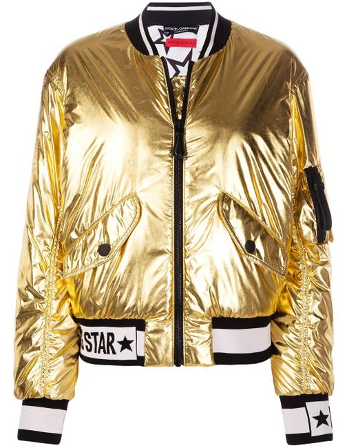 Dolce & Gabbana Millennials Star ボンバージャケット Metallic