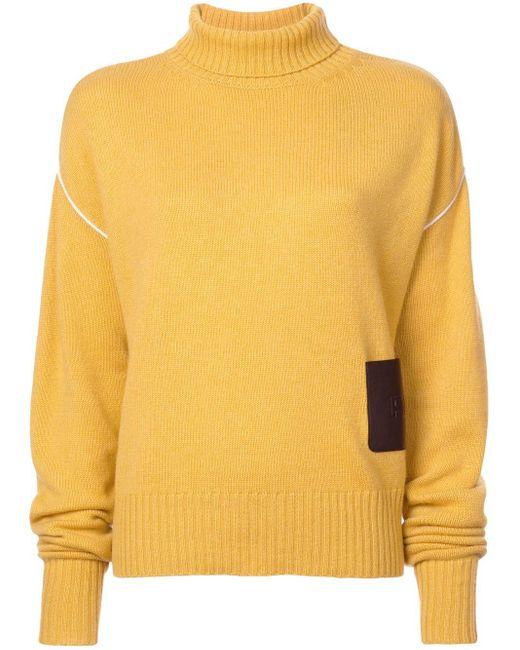 Rochas オーバーサイズ セーター Yellow