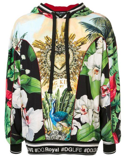 メンズ Dolce & Gabbana プリント パーカー Green