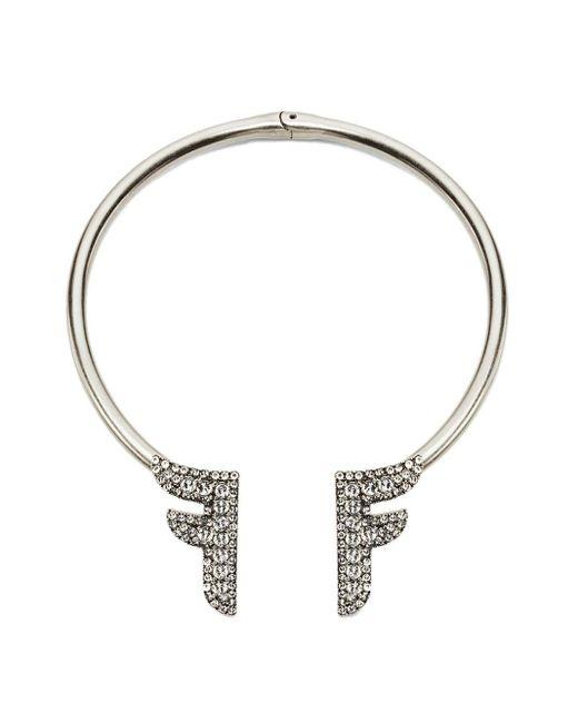 Fendi Fモチーフ ネックレス Metallic